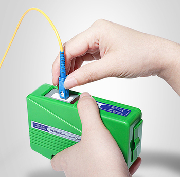 Limpiador de Conector de fibra óptica KCC-55 caja de limpieza con Conector de fibra Cassette 500 veces limpiador de Cassette