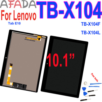 10.1'' LCD Display For Lenovo TAB E10 TB-X104 TB-X104F TB-X104L TB X104 Touch Screen Glass Assembly Digitizer Replacement Parts silicon case for lenovo tab e10 10 1 tablet cover funda tb x104f tb x104f tb x104l soft folding full body protect stand shell