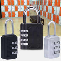 Heavy Duty 4 Dial Digit Combination Lock Weatherproof Protection Security Padlock Outdoor Gym Safely Code Lock Black 80*43*14mm