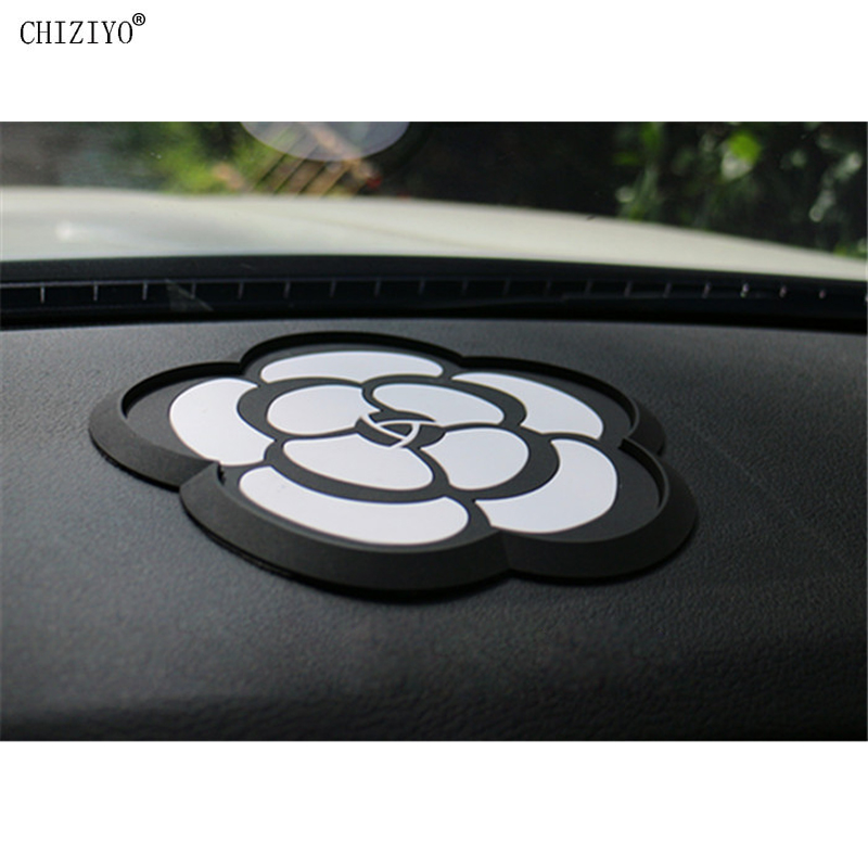 1 PC Black Camellia Super Magic Non-slip Mat Mobile Phone Holder Car Gadget Pads Accessories For Car Panel Waterproof