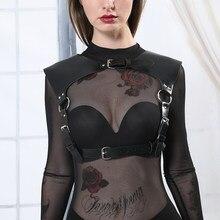 UYEE-arnés erótico de cuero para mujer, ropa interior Sexy, lencería con tirantes, cinturón de pecho ajustable, BDSM