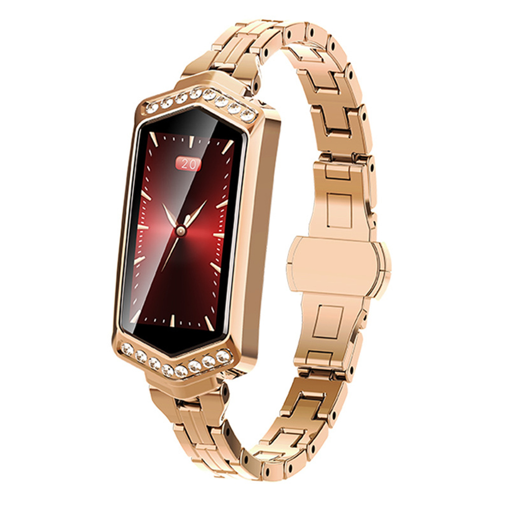 Woman Smart Watch Fashion Waterproof Rechargeable Bracelet Heart Rate Monitor Luxury Bluetooth Tracker Gift Sports Fitness