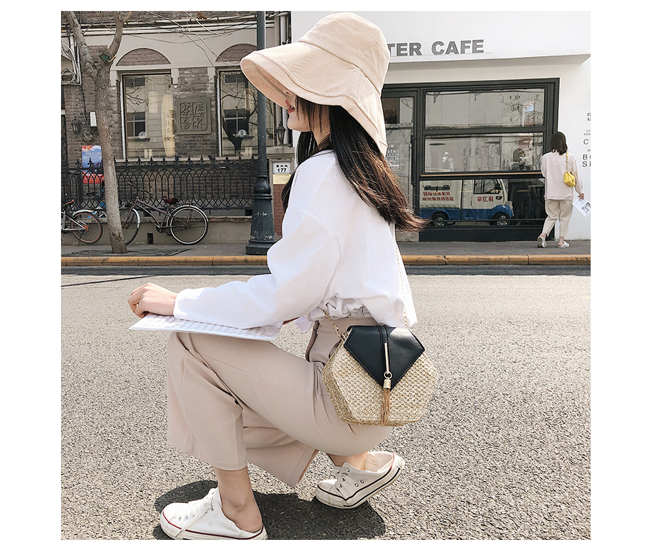 H2bb54657ef454157afbe76e6e1ce15f14 - Mulit Style Straw leather Handbag Women Summer Rattan Bag Handmade Woven Beach Circle Bohemia Shoulder Bag New Fashion