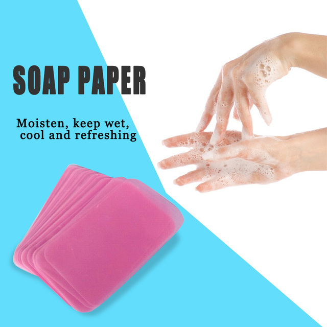 50pcs/set Disposable Soap Paper Washing Hand Bath Scented Slice Soap Sheets Washing Hand Clean Foaming Scented Slice Sheets 4