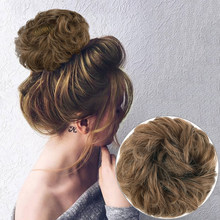 Messy Hair Bun For Women hairpiece Extensions Synthetic wig Ring Wrap Chignon Black Brown High Temperature Fiber(China)