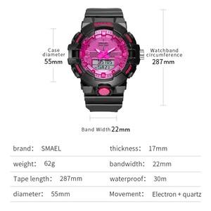 Image 2 - Spor İzle kadınlar reloj mujer su geçirmez 30M kronometre çalışan saat alarmı 8025 siyah saatler instagram bayanlar kol saatleri yeni