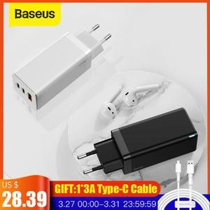 Baseus GaN зарядное устройство 65 Вт Быстрая зарядка 4,0 PD Быстрая зарядка AFC FCP дорожное зарядное устройство для Macbook Pro для iPhone 11 X XS huawei Mate20