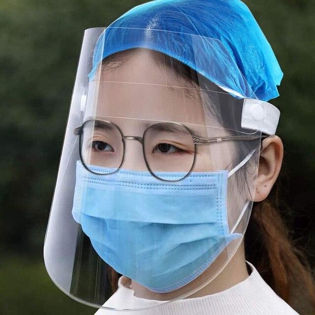 Protective Full Face Mask PET Anti-Saliva Splash Goggles Anti-Spitting Anti-Fog Face Shields Mask Protect Yourself From Virus