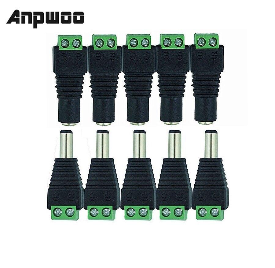 ANPWOO électronique intelligent femelle   5.5x2.1mm DC, alimentation 12V 24V, adaptateur prise de connecteur, caméra de vidéosurveillance Transmission et câbles    - AliExpress