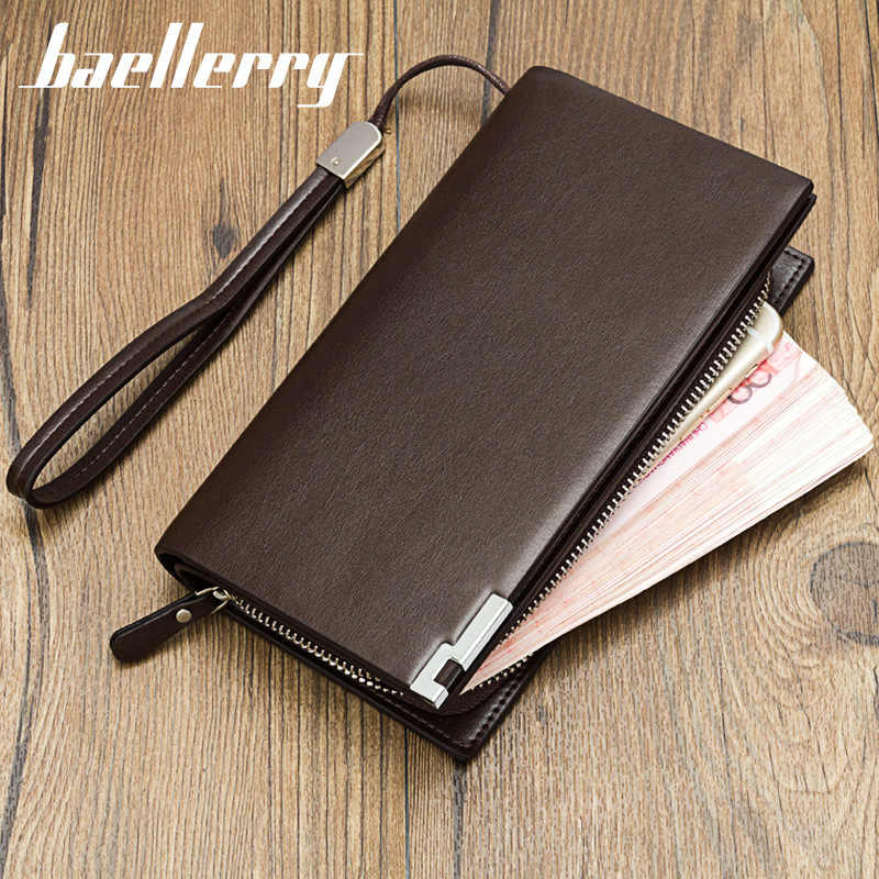 Baellerry Fahion Männer Brieftaschen Business Telefon Clutch männer Geldbörsen & Brieftasche Leder Karte Halter Lange Schlanke Brieftasche
