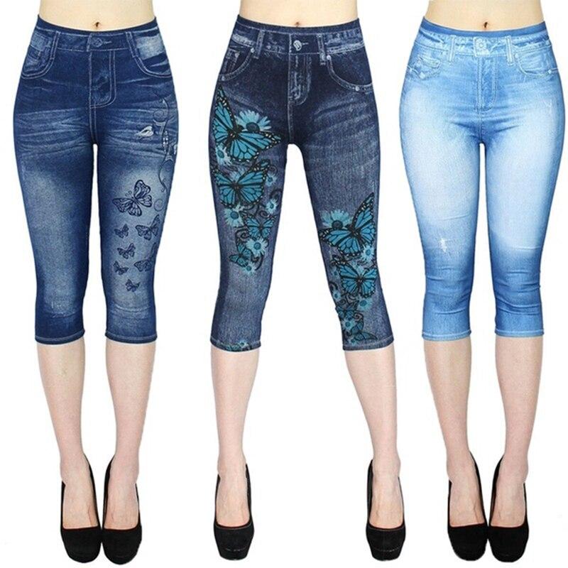 Print Leggings Women High Waist Sport Leggings 2019 Ladies Casual Outdoor Jeans Push Up Gym Workout Leggings Women Casul Pants