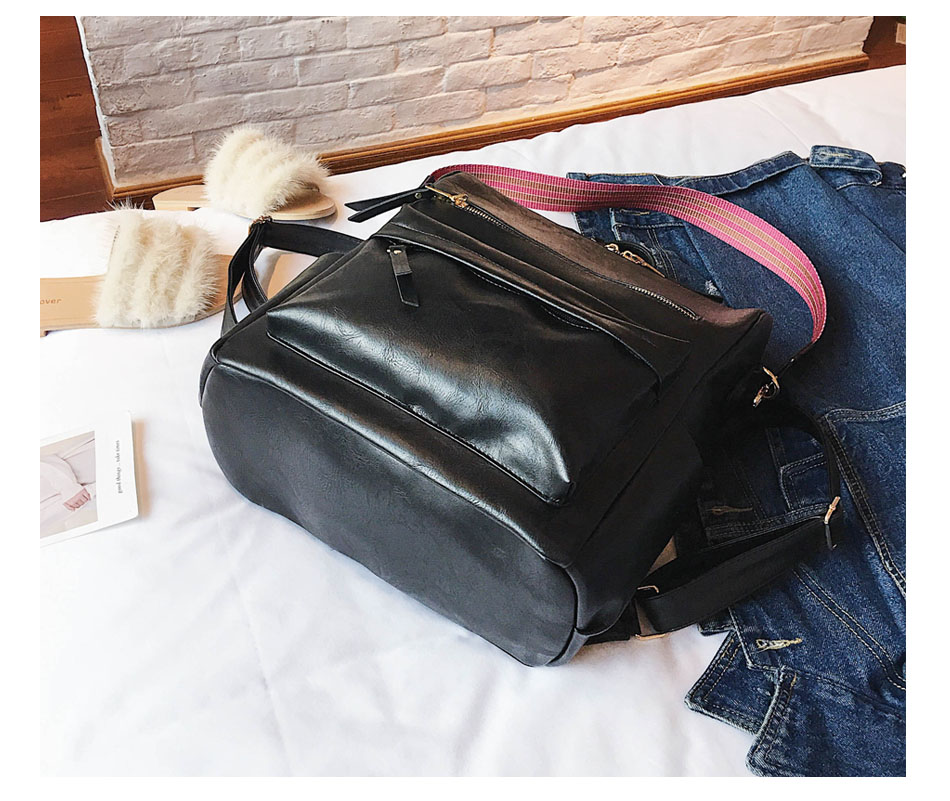 H2bb62a62f33f497597bacac269094fd6c Leather Backpack Women 2019 Students School Bag Large Backpacks Multifunction Travel Bags Mochila Pink Vintage Back Pack XA529H