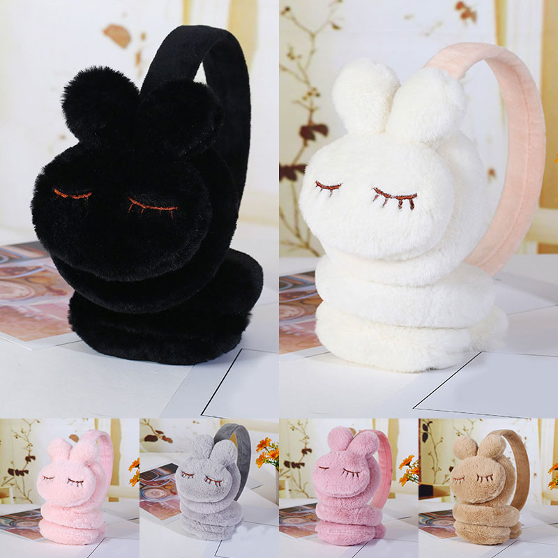 New Cute Lovely Winter Warm Earmuff Rabbit Earcap For Girls And Boys Plush Warm Children Winter Earmuffs Ear Cover Earwarmers