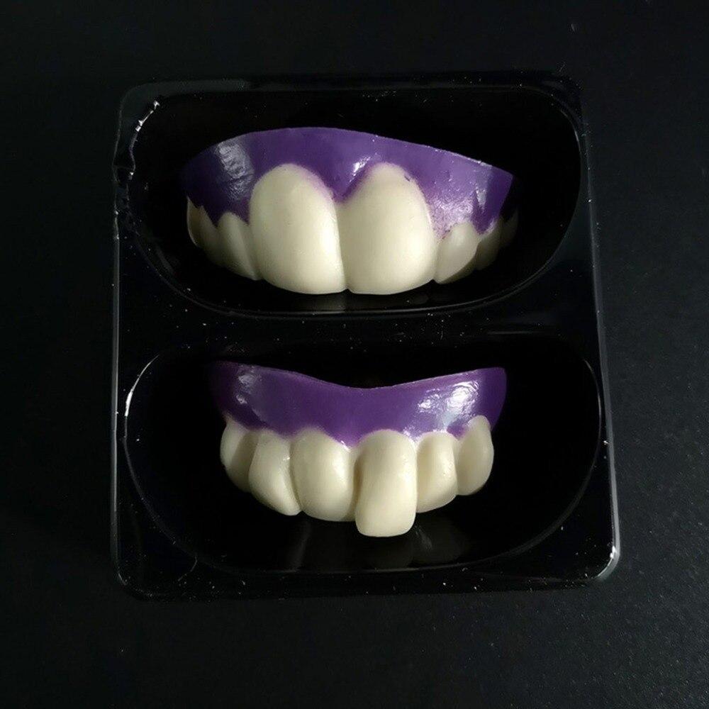 wholesale Halloween Denture Vampire Teeth Zombie Front Tooth Braces funny  plastic soft fake teeth 3C02NNNN