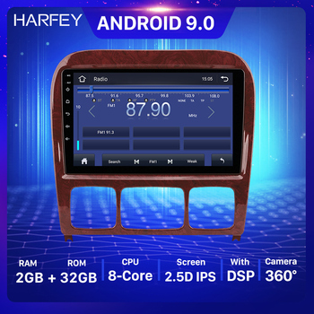 Harfey Car Multimedia player 9inch Android 9.0 GPS Player For Mercedes Benz S Class W220 S280 S320 S350 S400 S430 S500 1998-2005 image