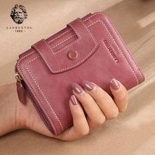 Laorentou брендовый женский маленький кошелек из натуральной
