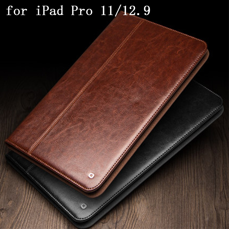 "Smart On/off Protective Tablet Case Cover for iPad Pro 12.9"" 2018 Genuine Leather Shell Skin for iPad Pro 11"" 2018 Flip Stand"
