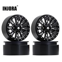 INJORA 4Pcs 2.2 Beadlock CNC Aluminum Alloy Wheel Rim for 1/10 RC Crawler Car Traxxas TRX-6 Axial SCX10 90046 Wraith RR10 1