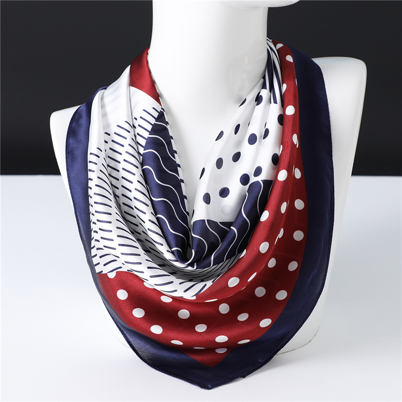 2020 Design Silk Scarf For Women Print Neck Scarves Hair Wraps Lady Small Square Foulard Shawls Pashmina Bandana