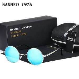 Image 1 - 2020 HD الاستقطاب النظارات الشمسية المستديرة المعدنية Steampunk الرجال النساء نظارات الموضة العلامة التجارية مصمم ريترو خمر النظارات الشمسية UV400