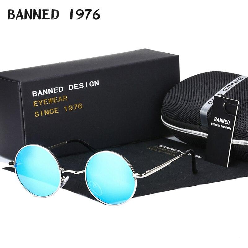 2020 HD polarized Round Metal Sunglasses Steampunk Men Women Fashion Glasses Brand Designer Retro Vintage Sunglasses UV400round metal sunglassesmetal sunglassesbrand designer sunglasses -