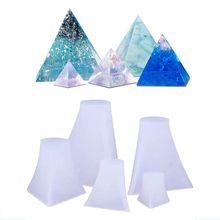 5 uds. De moldes de silicona de pirámide, molde de fundición de resina, molde de pirámide de orgonita, herramientas de joyería