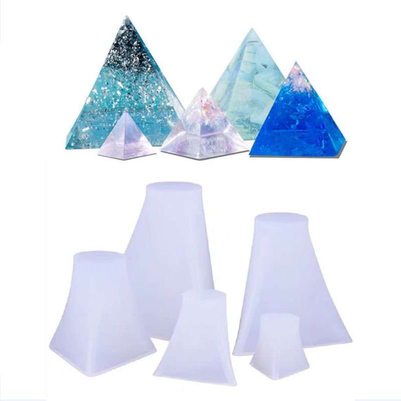 5Pcs Pyramid Silicone Molds Resin Casting Mold Orgone Pyramid Mold Jewelry Tools