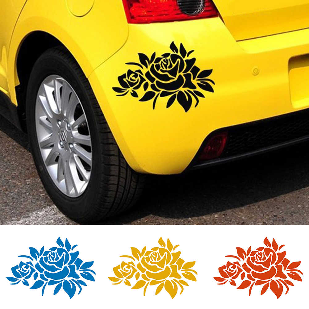 Hot New Flower Car Stickers Cover Scratches Vehicle Bumper Window Decal and Sticker for Auto Decoration Popular Styling