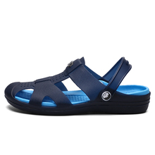 Men Sandals Summer Slippers Shoes Croc fashion beach Sandals Casual Flat Slip On