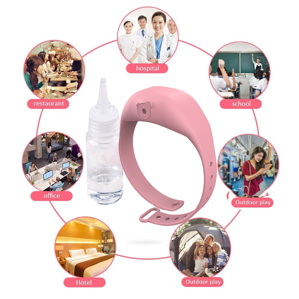 Hand Sanitizer Dispensing Silicone Bracelet Wristband Hand Dispenser This Wearable Hand Sanitizer Dispenser Pumps Disinfectant