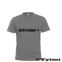 T-shirt 1250 coton à manches courtes et col rond pour homme, estival, avec LOGO, pour SUZUKI GSX1250 F/SA/ABS GSX1250FA GSX 100%