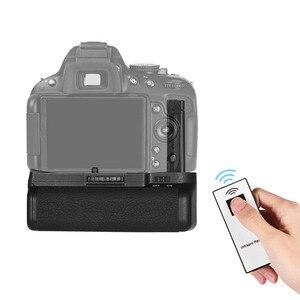 Image 2 - Soporte Vertical de batería para cámara Nikon D5100 D5200 DSLR, EN EL, 14 pilas, mando a distancia IR, agarre Vertical