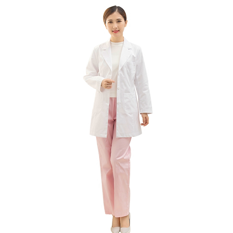 Workwear Commuter White Coat Long Sleeve Female Korean Style Tattoo Embroiderist Plastic Surgery Doctor's Clothing Workwear