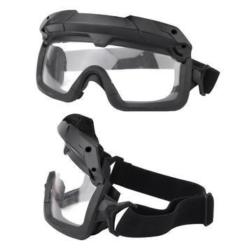 Okulary taktyczne wielowymiarowy podział taktyczne odkryty Retro kolor dwa gogle silnik stałe okulary tryby iding versio L1W5 tanie i dobre opinie Tactical Goggles TPE + ABS + PC