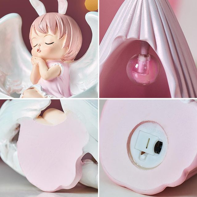 Cute Angel Baby Figurines Fairy Garden Miniatures Resin Ornaments Creative Home Decoration Accessories Birthday Gift  Room Decor 6