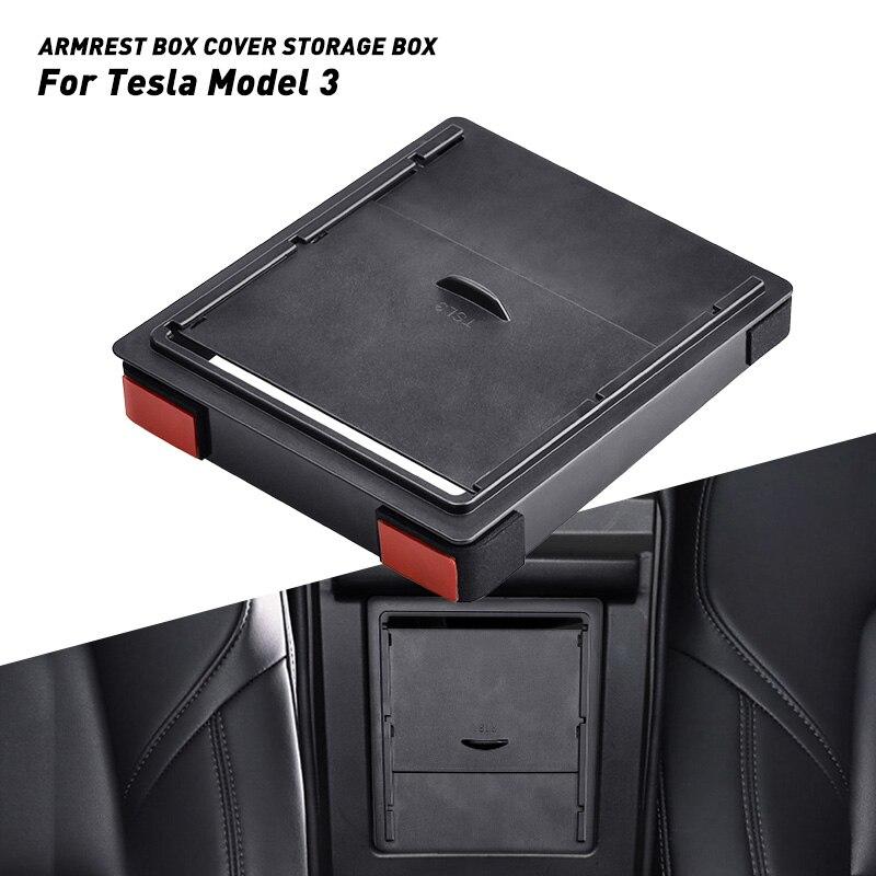 Para Tesla modelo 3 2019 accesorios Modelo 3 2018 2017 caja de almacenamiento Reposabrazos de coche Centro consola organizador caja contenedor soporte