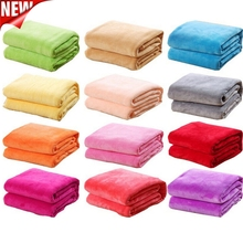 Bed-Blanket for Throw Machine-Size 50cm--70cm Washable Fleece Solid-Color 1pcs