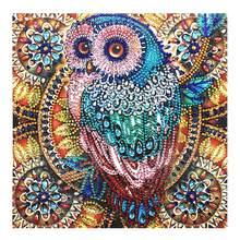5D DIY Diamond Painting Special Diamond Embroidery Flower Tree Owl Diamond Painting Rhinestone Crystal Home Decoration