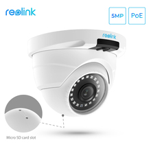 Reolink Poe-Ip-Camera Nightvision-Video Sd-Card-Slot CCTV Dome Security Outdoor 5MP