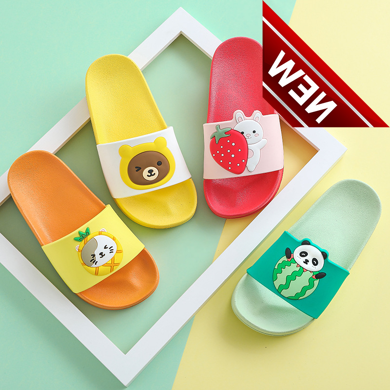 2019 Girls Boys Meisjes Children Slippers Kids For Boy Girl Cartoon Home Shoes Summer Baby Indoor Slippers Beach Swimming