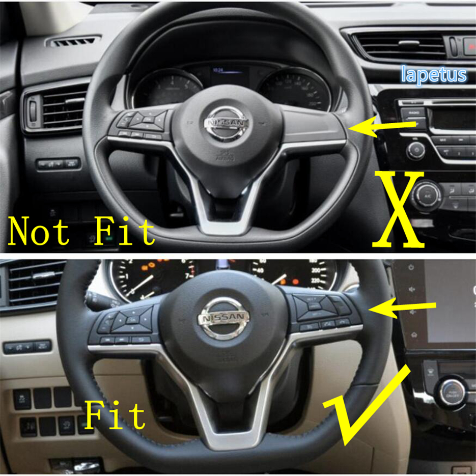 Carbon Fiber Rear Air Vent Outlet Frame Trim For Nissan Rogue X-Trail 2014-2019