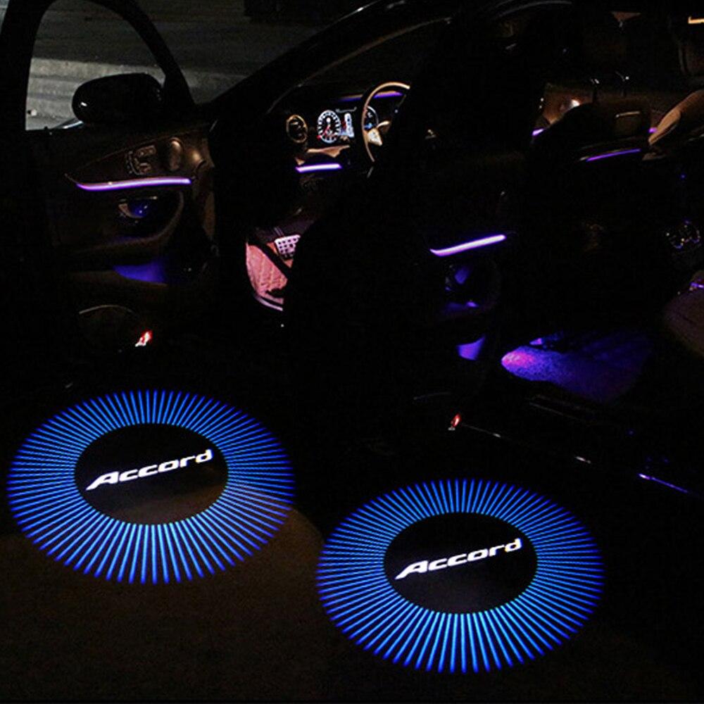 2 шт./лот Синяя лампа с логотипом ACCORD для Honda Accord CR-Z Odyssey Crosstour Spirior Elysion