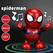 Dance Hero Spiderman robot Transformersed Bumblebee Music Iron Man Light Sound M