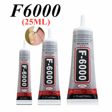 F6000 25ml líquido multiuso industrial adesivo diy jóias artesanato strass fix tela do telefone cola de vidro prego gel diy ferramenta