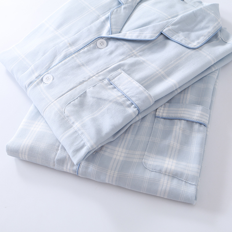 100% Cotton Good For Healthy  Men Pajamas Set Men Sleepwear 1324