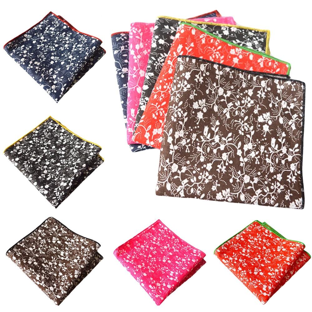 Men Pocket Square Floral Printed Handkerchief Men's Accessories Wedding Party YXTIE0308
