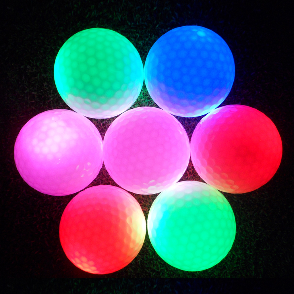 Colorful LED Light Up Golf Balls Night Golf Ball Official Size Weight Glow In Dark Perfect For Golf Long Distance Practice