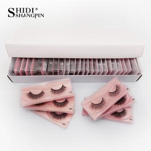 Image 1 - Pestañas postizas de visón Natural, venta al por mayor, 20/30/40/50 Uds., maquillaje a granel