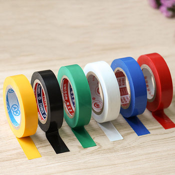 10m 600v Red Black White Flame Retardant Electrical Insulation Tape High Voltage PVC Electrical Tape Waterproof Self-adhesive zhishunjia electrical pvc insulation adhesive tape green