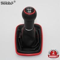 Für Seat Leon 2000 2001 Toledo 1999 2000 2001 Auto-Styling Auto 5 Geschwindigkeit 23mm Rote Linie Getriebe stick Schaltknauf Mit Leder Boot